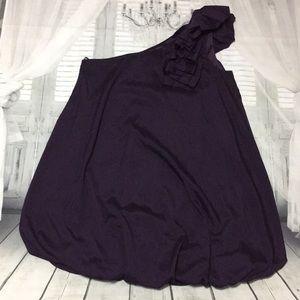 Forever 21 solid purple one shoulder dress medium